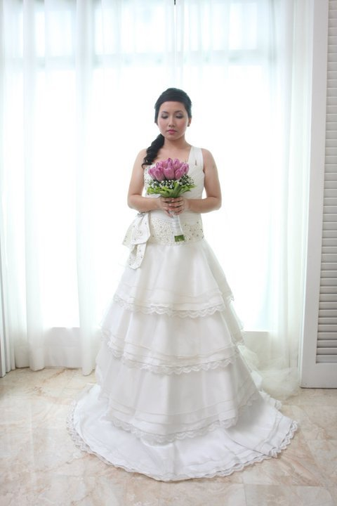 Camille Garcia Wedding Dress Tiered