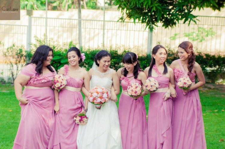 Camille Garcia Wedding Dress and Entourage