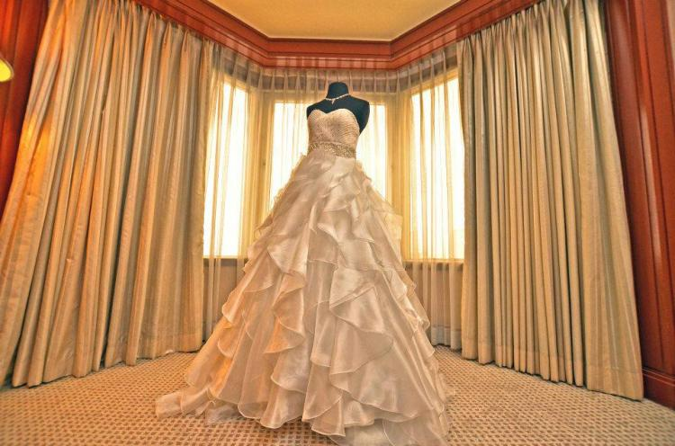 Camille Garcia Ruffled Wedding Dress