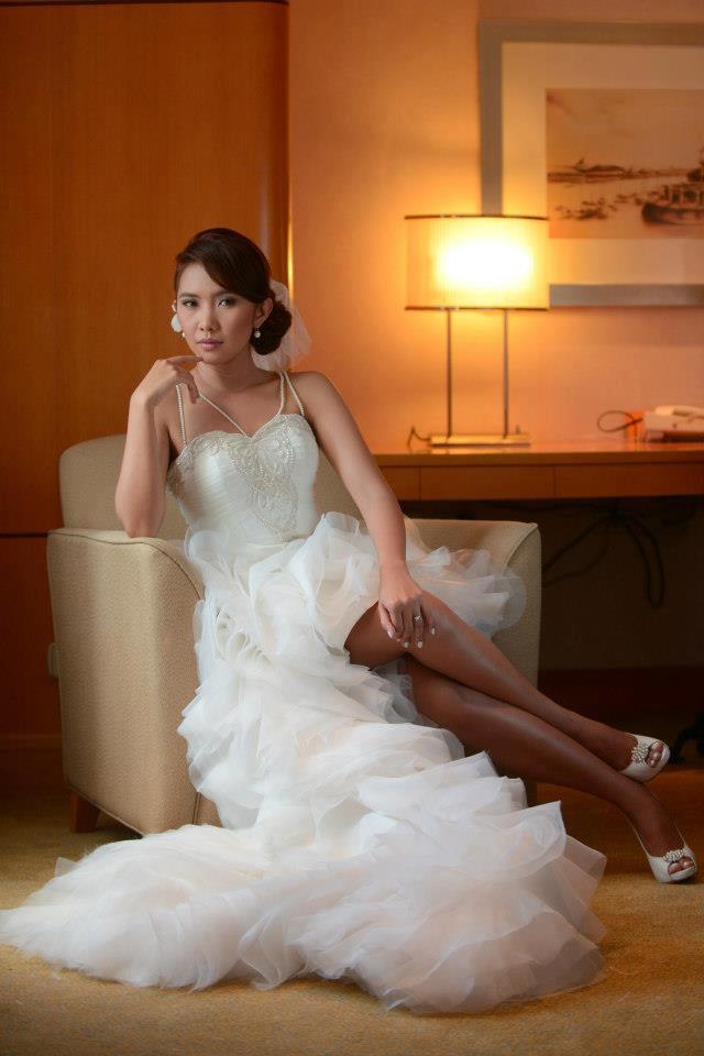 Camille Garcia Wedding Dress High Low Skirt