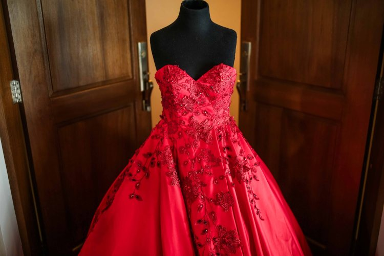 camille garcia debut gown